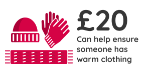 £20 can help ensure someone has warm clothing
