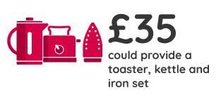 £35 could give them a toaster, kettle and iron set